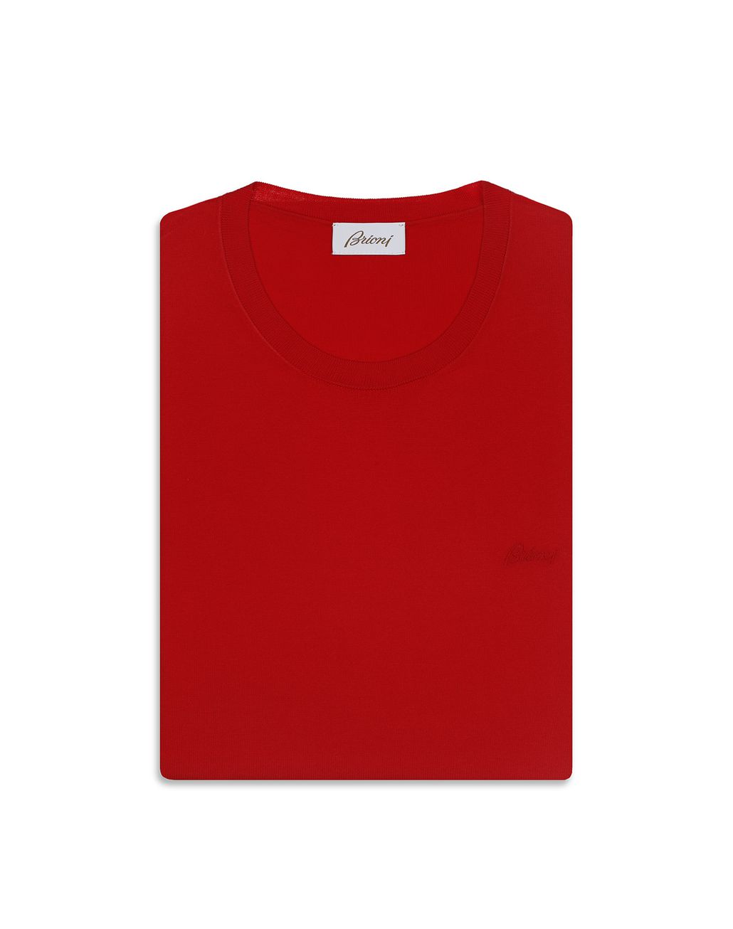 BRIONI Red Logoed T-Shirt T-Shirts & Polos Man e