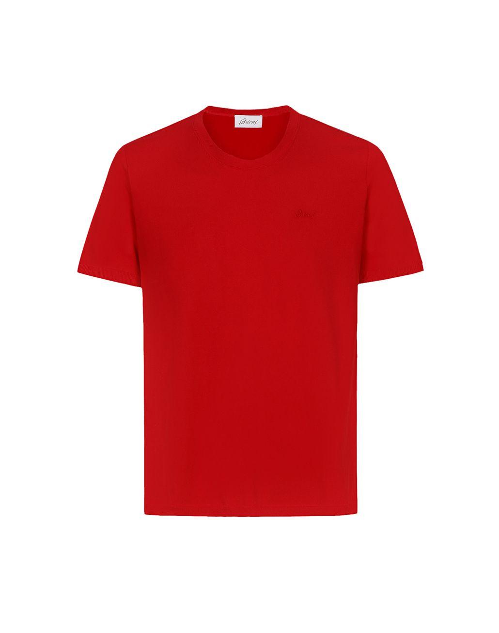 BRIONI T-shirt rouge avec logo T-shirts & polos Homme f