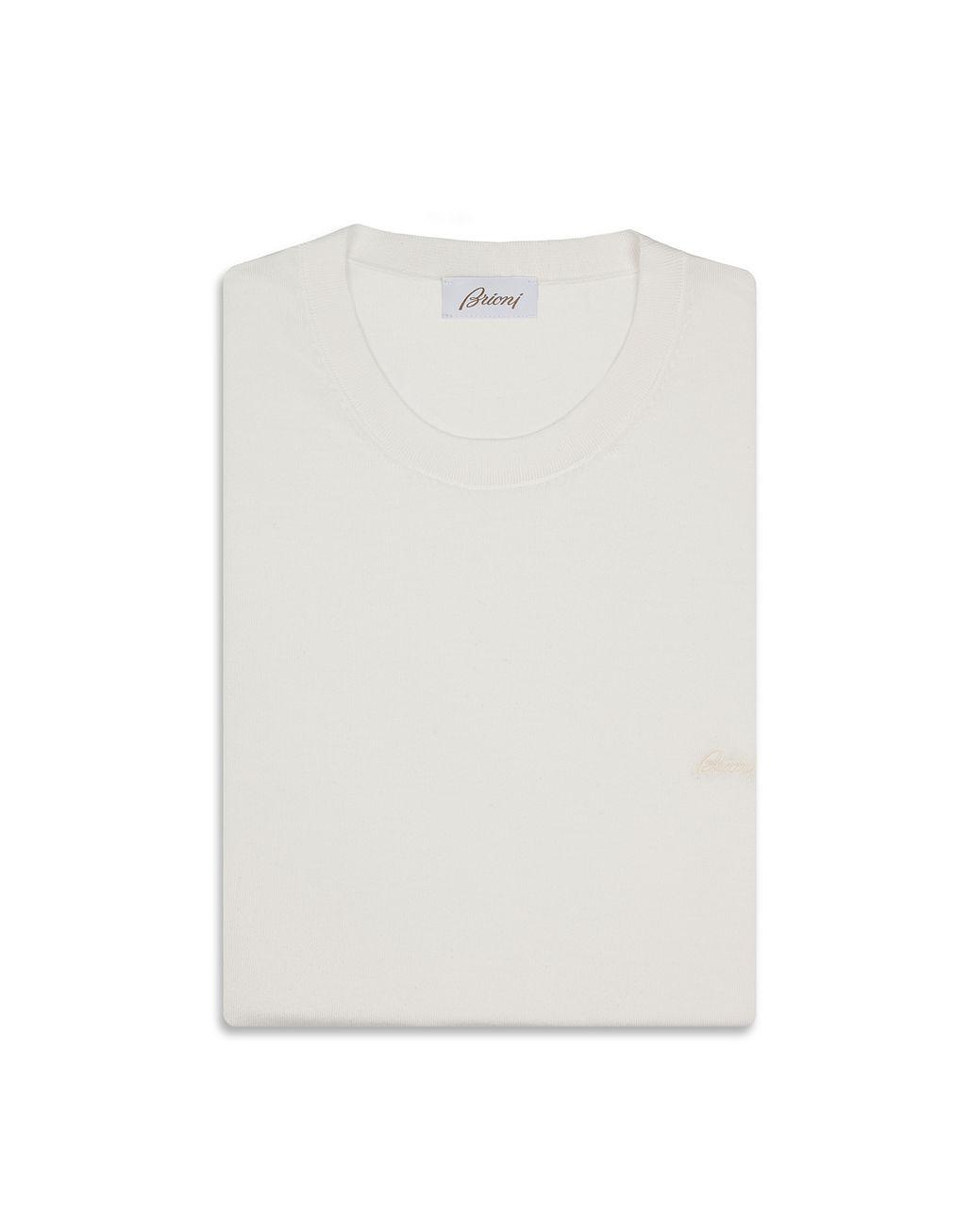 BRIONI White Logoed T-Shirt T-Shirts & Polos Man e