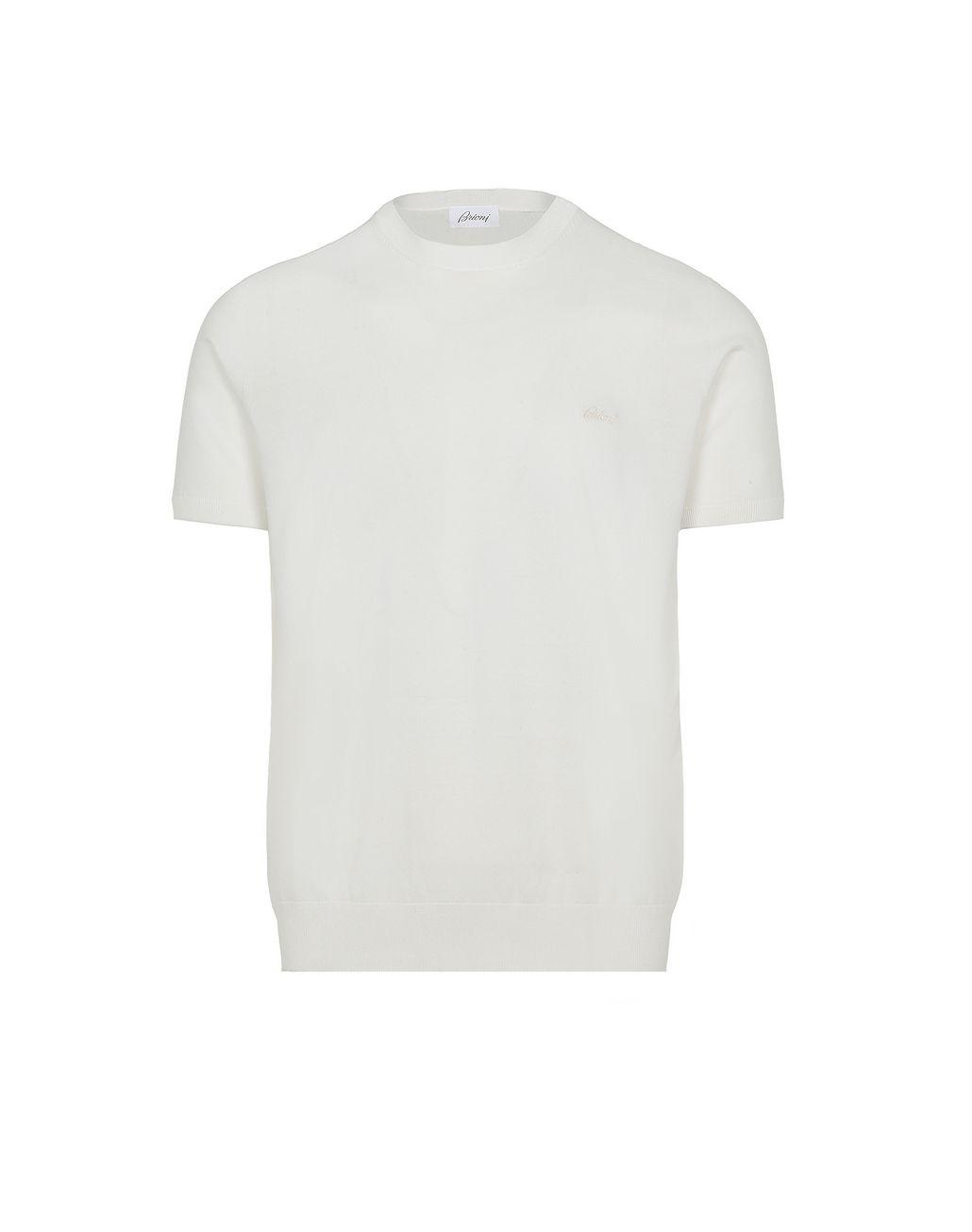 BRIONI White Logoed T-Shirt T-Shirts & Polos Man f