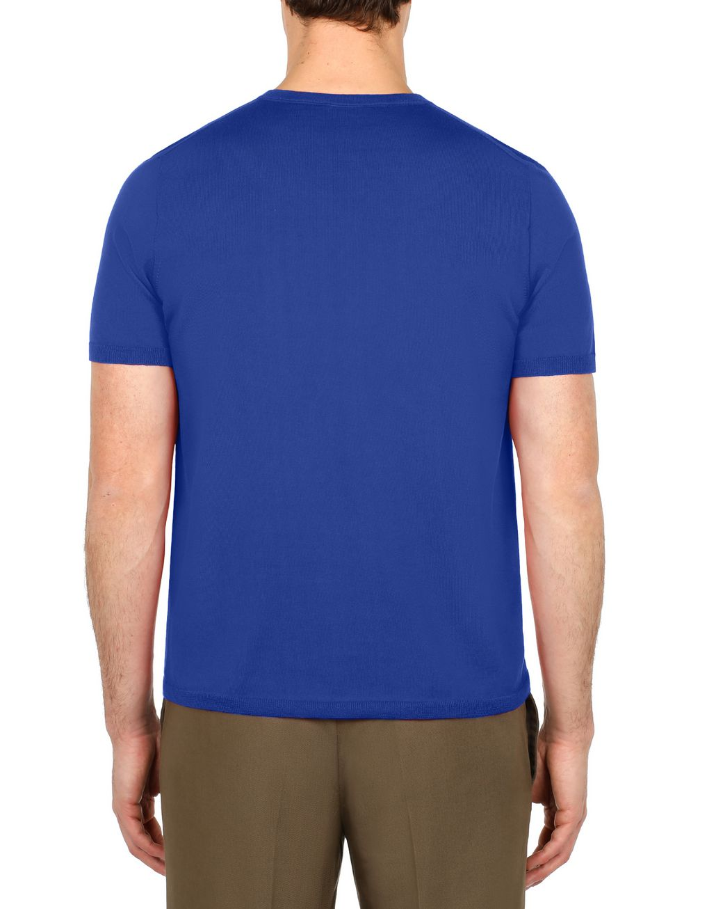 BRIONI Light Blue Logoed T-Shirt T-Shirts & Polos Man d