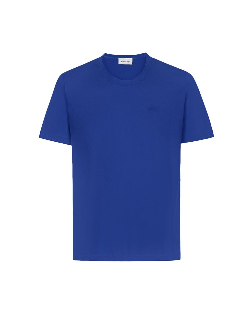 BRIONI Light Blue Logoed T-Shirt T-Shirts & Polos Man f