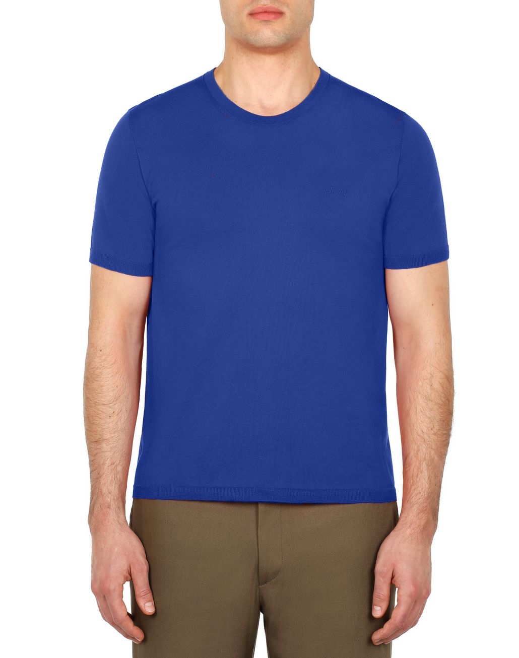 BRIONI Light Blue Logoed T-Shirt T-Shirts & Polos Man r
