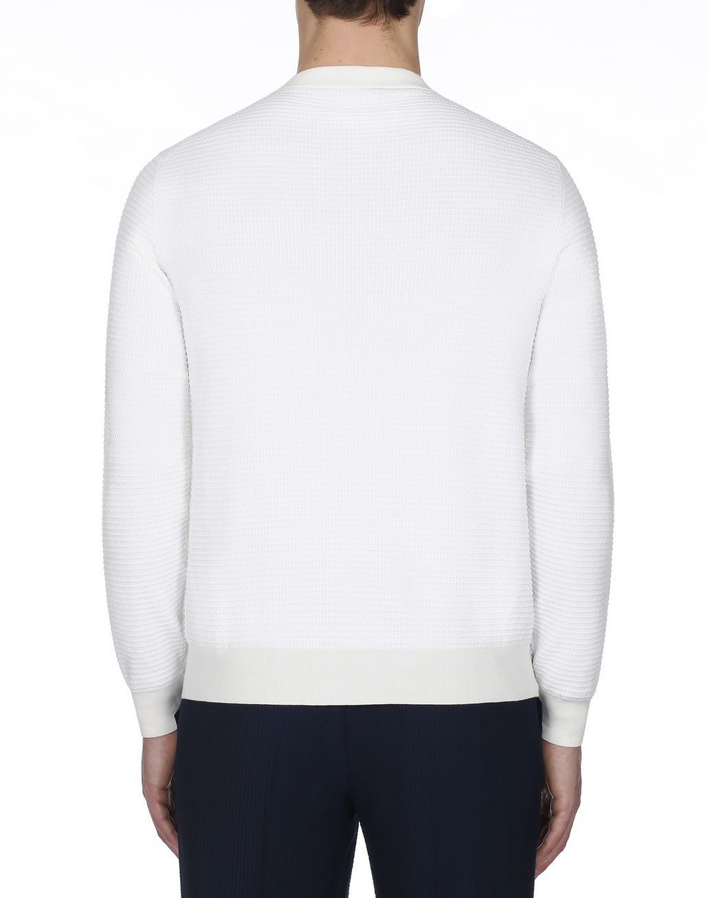 BRIONI White Crew Neck Sweater Knitwear [*** pickupInStoreShippingNotGuaranteed_info ***] d