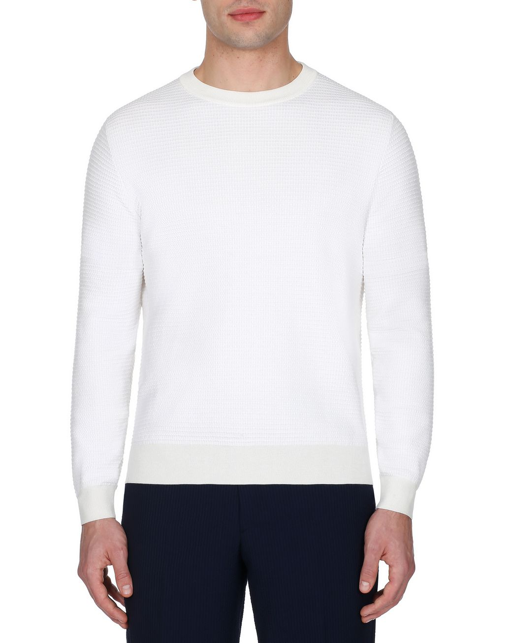 BRIONI White Crew Neck Sweater Knitwear [*** pickupInStoreShippingNotGuaranteed_info ***] r