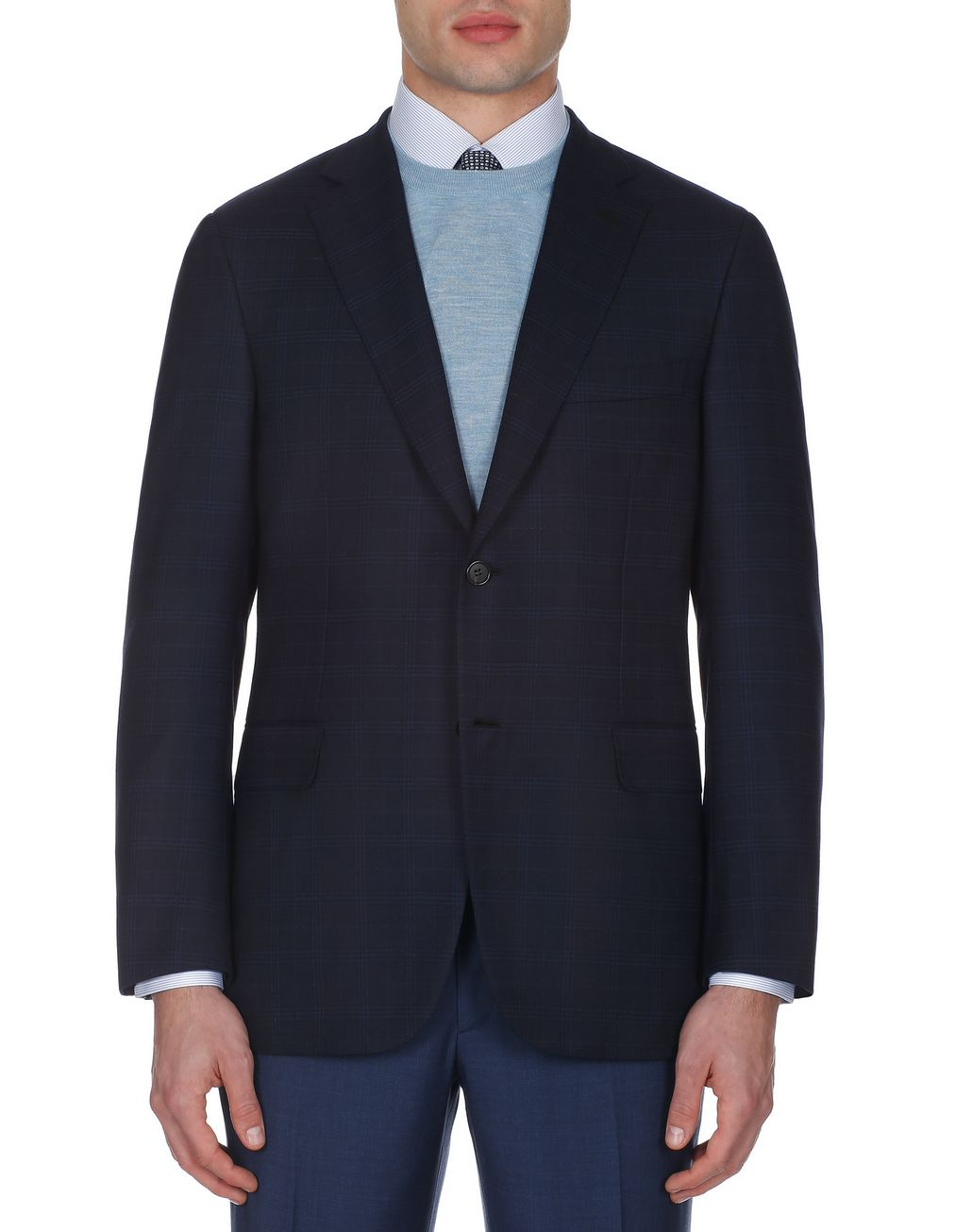 BRIONI Navy Blue Ravello Jacket Jackets Man r