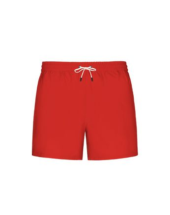 Red Short Swims Short