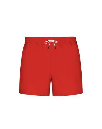 Короткие красные шорты для плавания