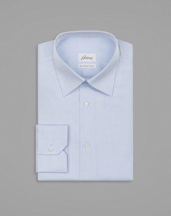 Chemise bleu clair avec motif à chevrons