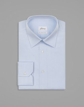 "Голубая рубашка с узором ""ёлочка"""