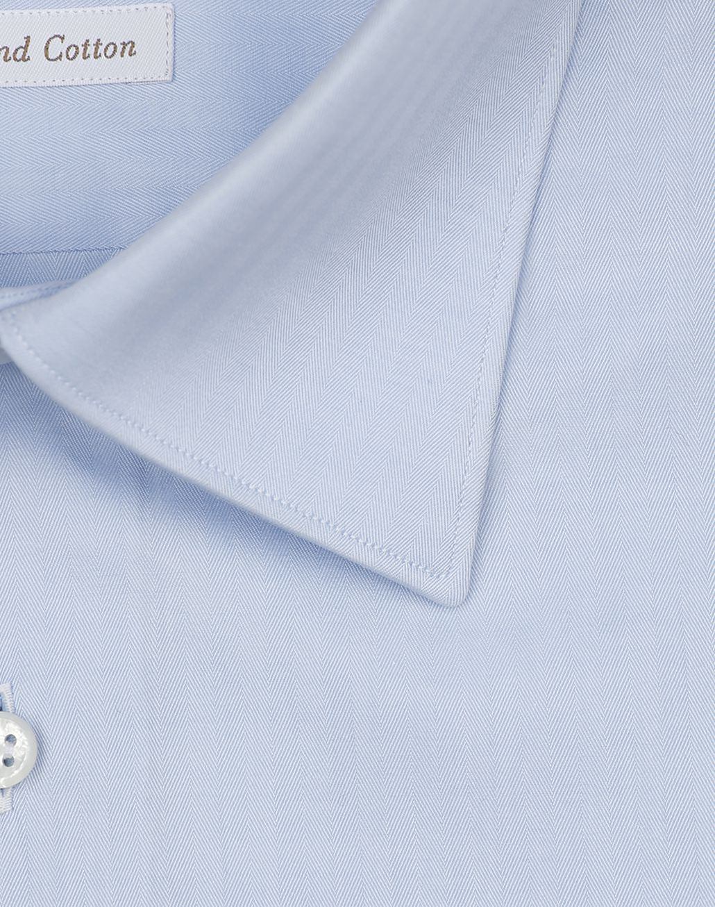 BRIONI Light Blue Herringbone Shirt Formal shirt [*** pickupInStoreShippingNotGuaranteed_info ***] e