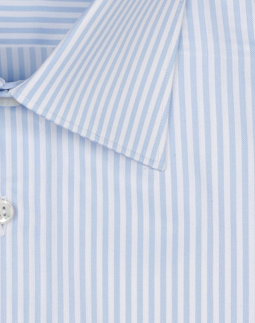 BRIONI Blue and White Striped Formal Shirt Formal shirt Man e