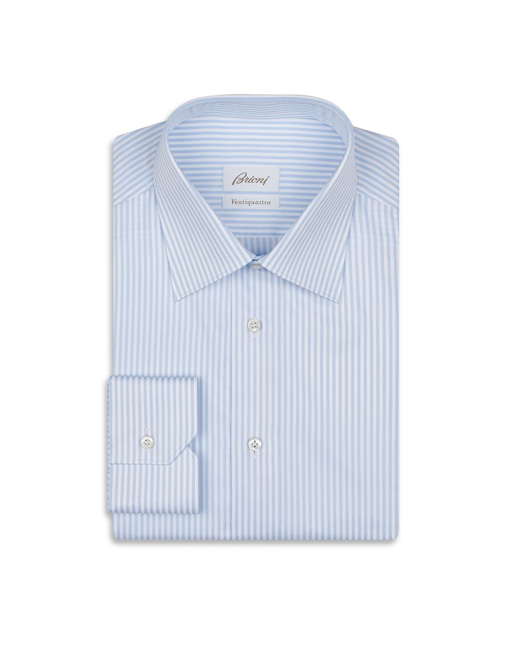 BRIONI Blue and White Striped Formal Shirt Formal shirt Man f