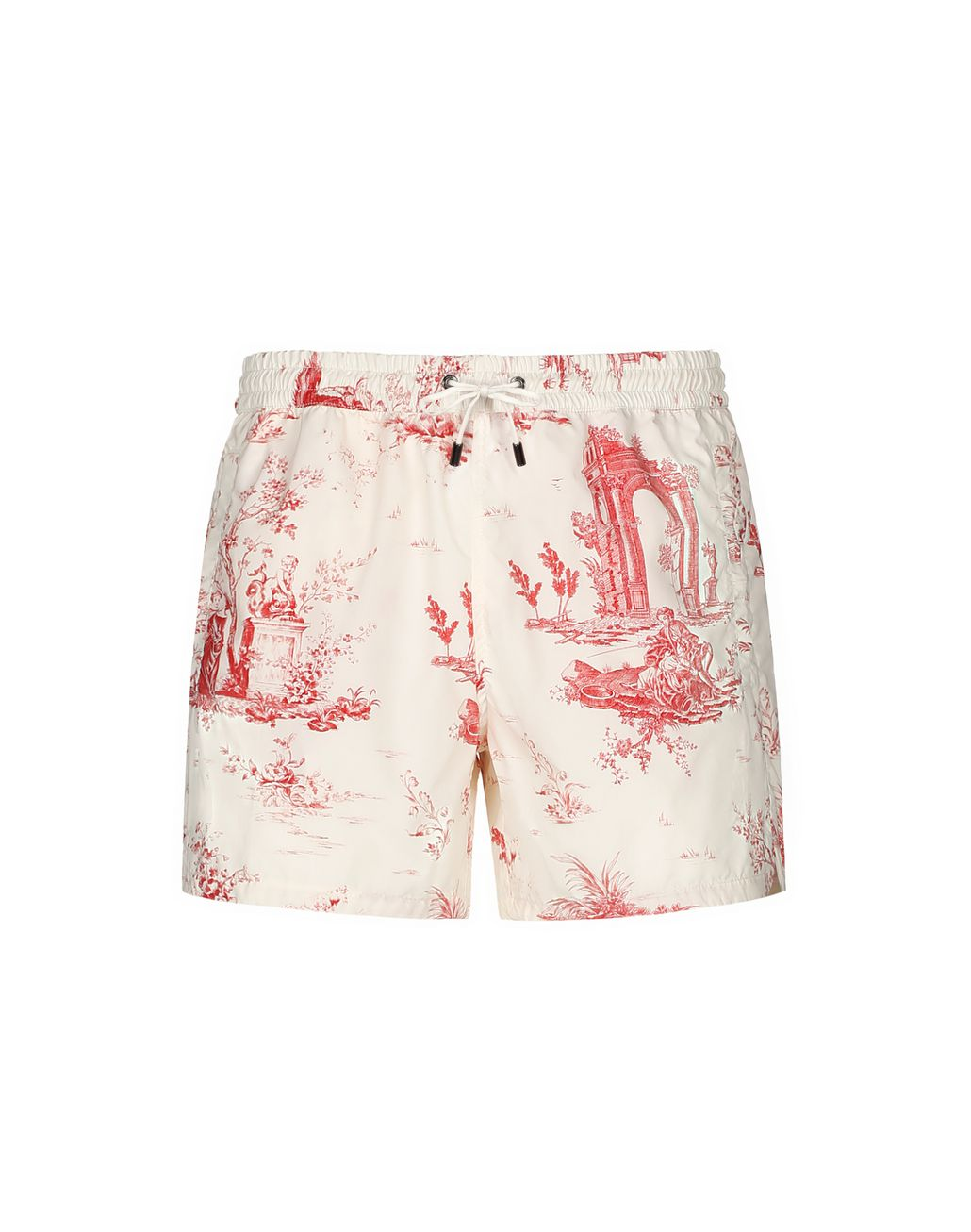 BRIONI White and Red Short Swims Short Beachwear Man f