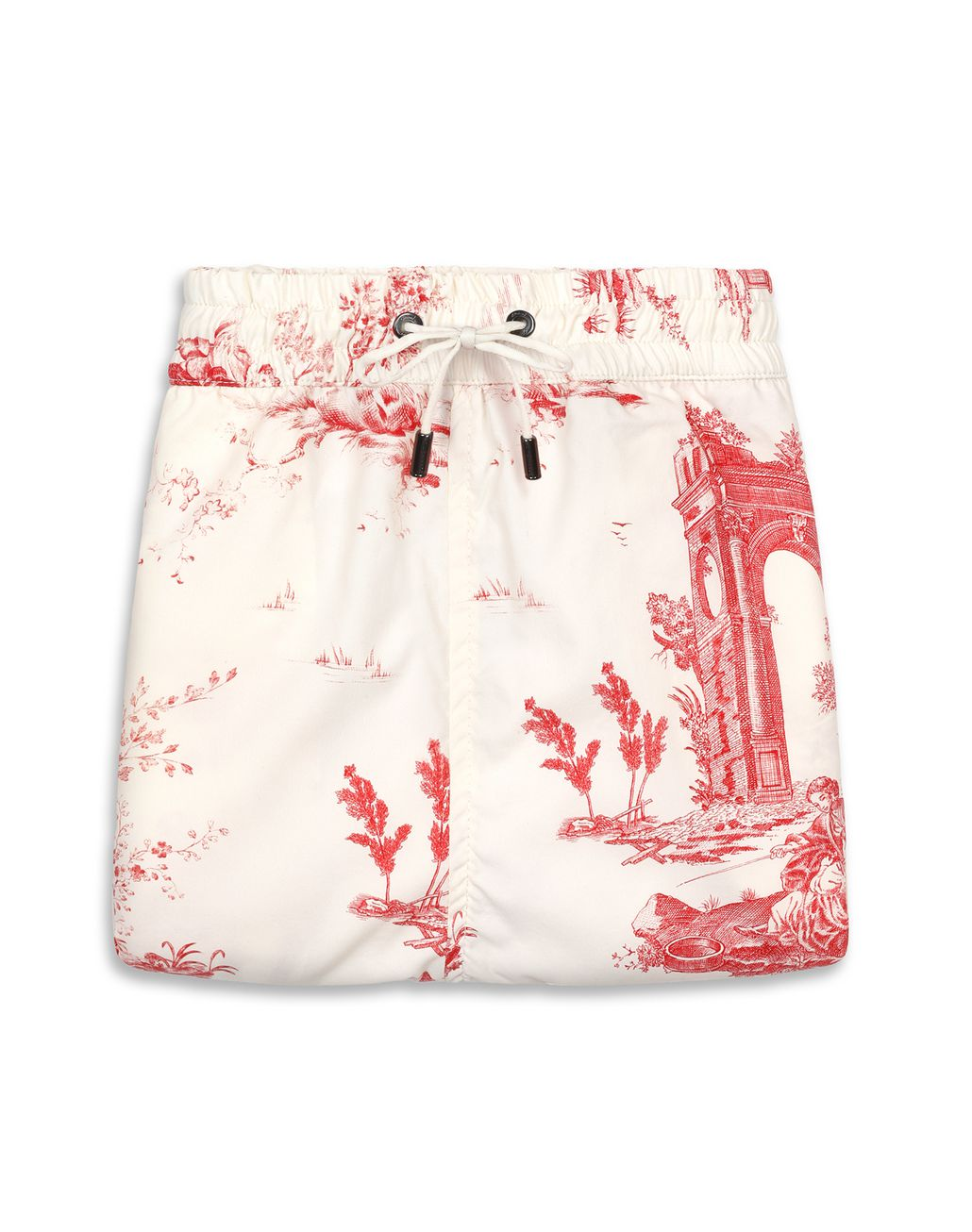 BRIONI White and Red Short Swims Short Beachwear Man r
