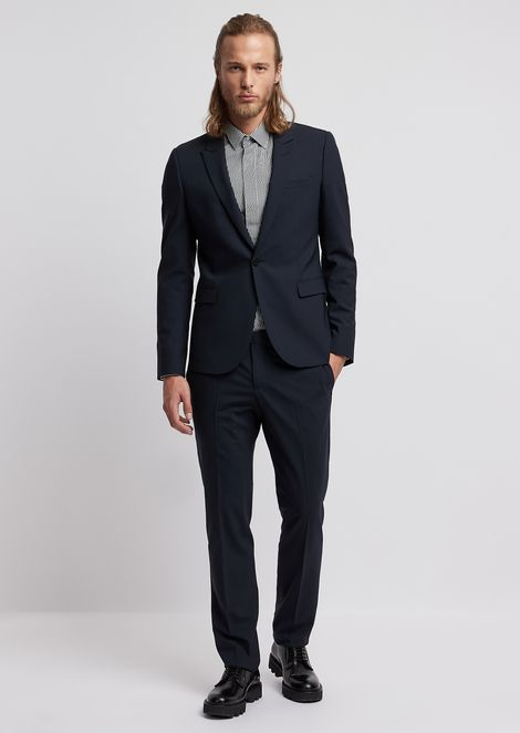 e7a6264885246 Suit in stretch cool wool with single-breasted blazer
