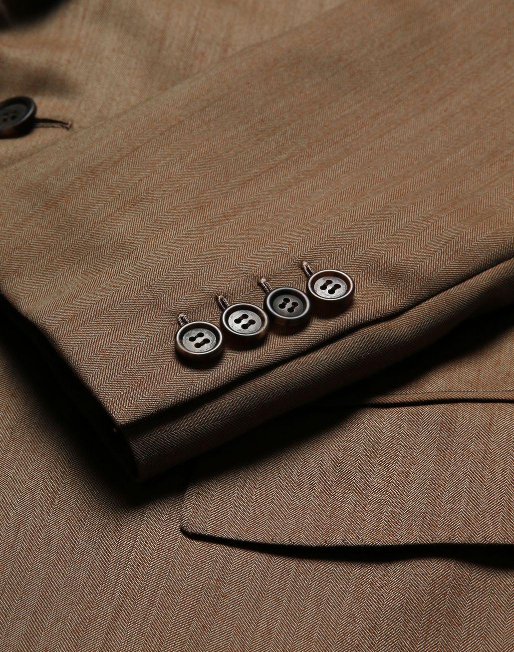 BRIONI Camel Herringbone Parioli Suit Suits & Jackets [*** pickupInStoreShippingNotGuaranteed_info ***] a