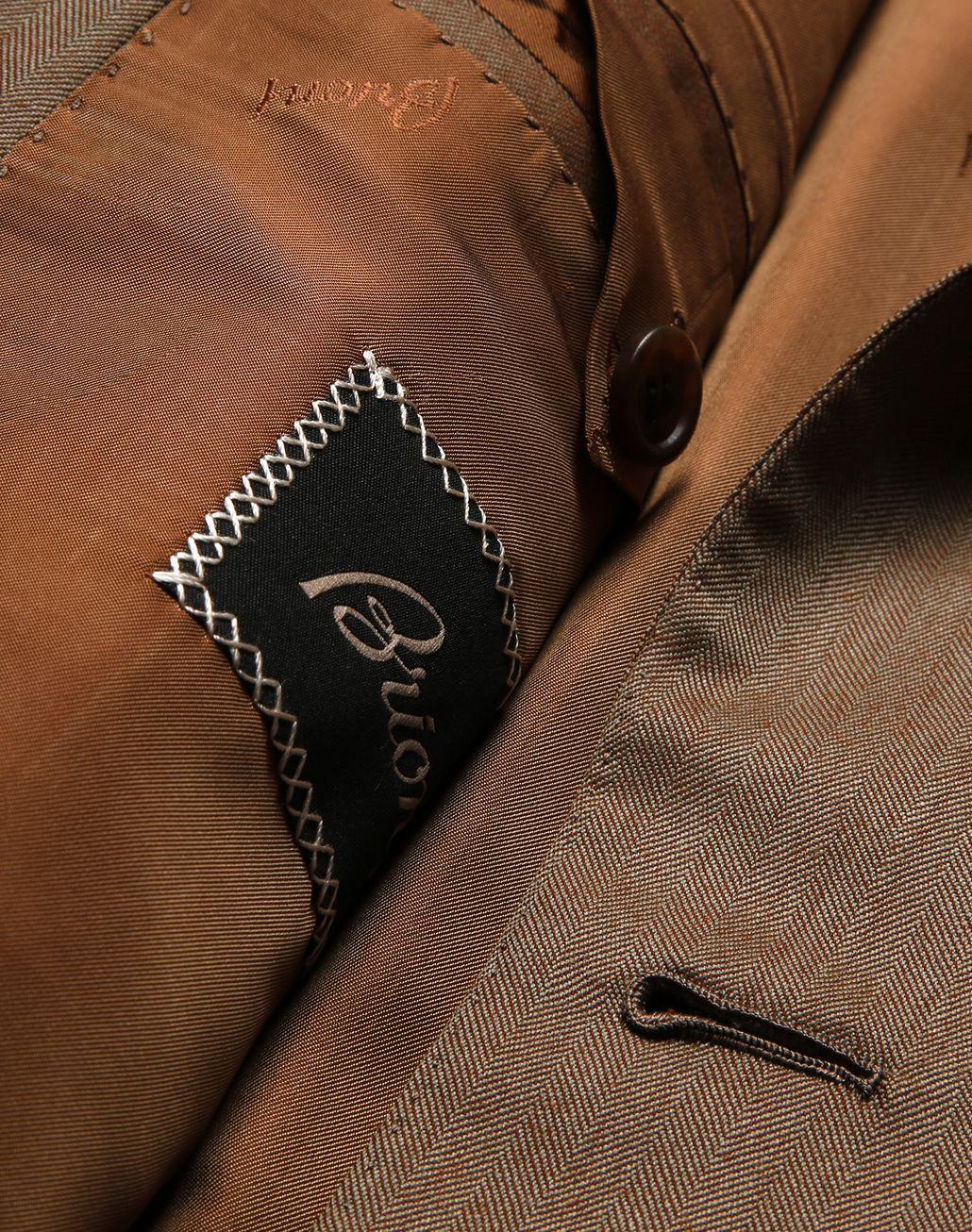 BRIONI Camel Herringbone Parioli Suit Suits & Jackets Man b