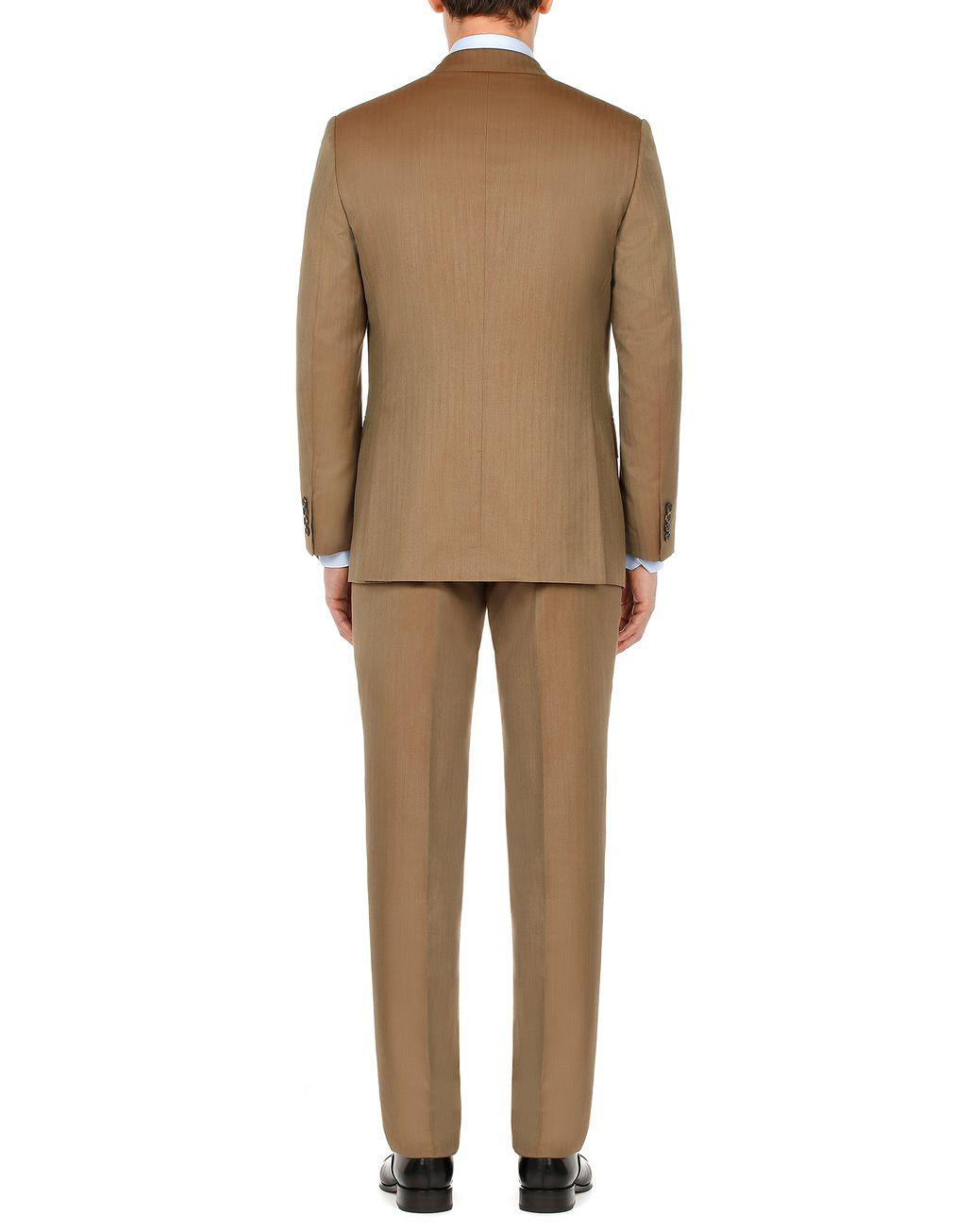 BRIONI Camel Herringbone Parioli Suit Suits & Jackets Man d