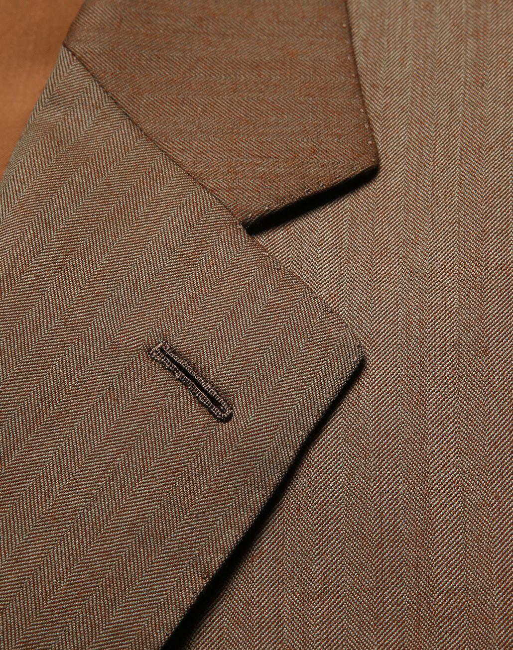 BRIONI Camel Herringbone Parioli Suit Suits & Jackets [*** pickupInStoreShippingNotGuaranteed_info ***] e
