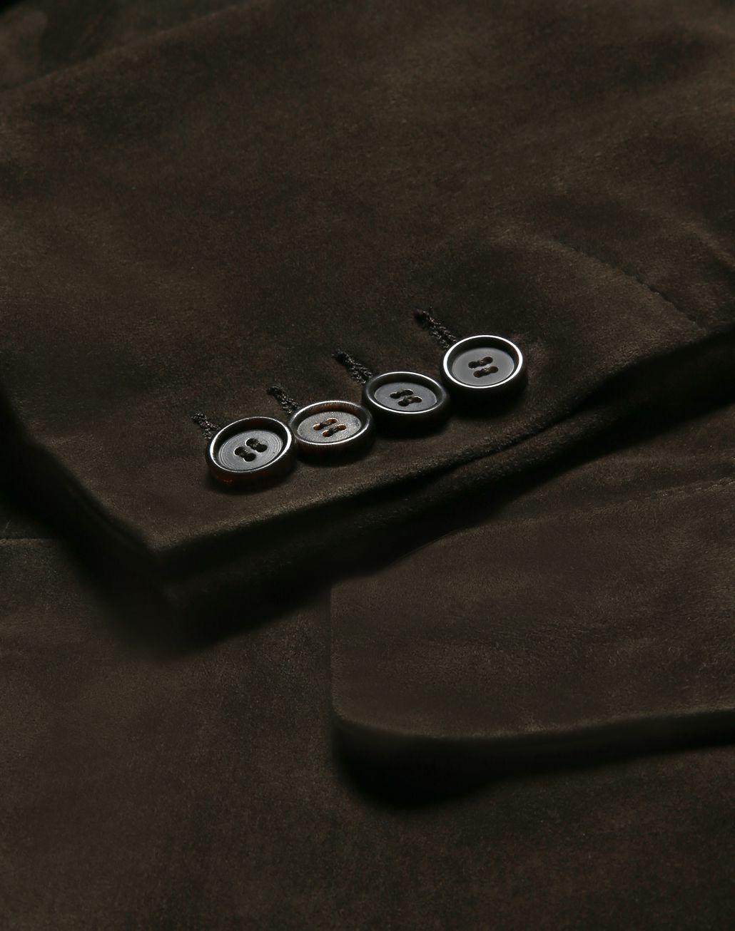 BRIONI Green Suede Blazer Outerwear Man a