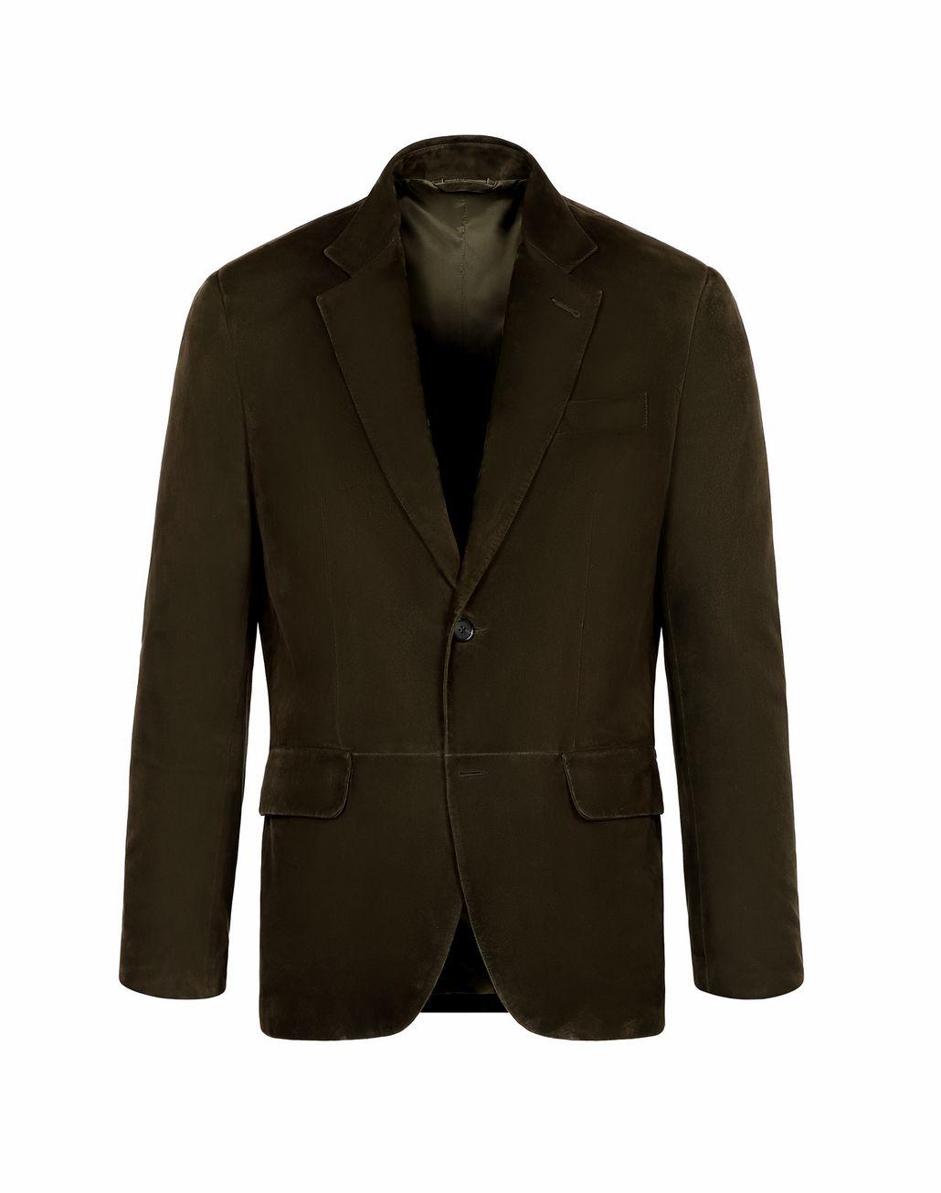 BRIONI Зелёный замшевый блейзер Верхняя одежда Для Мужчин f