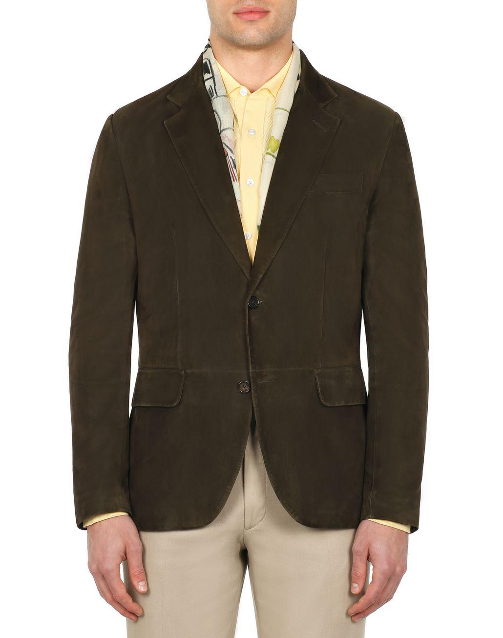 BRIONI Green Suede Blazer Outerwear Man r