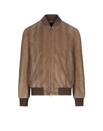 Snake Leather Blouson