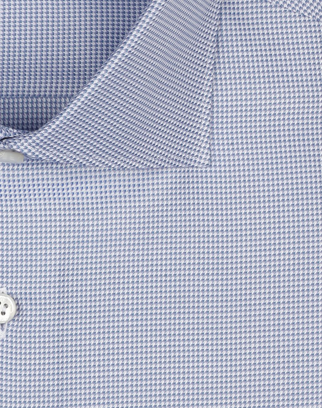 BRIONI Blue and White Micro Design Shirt Formal shirt Man e