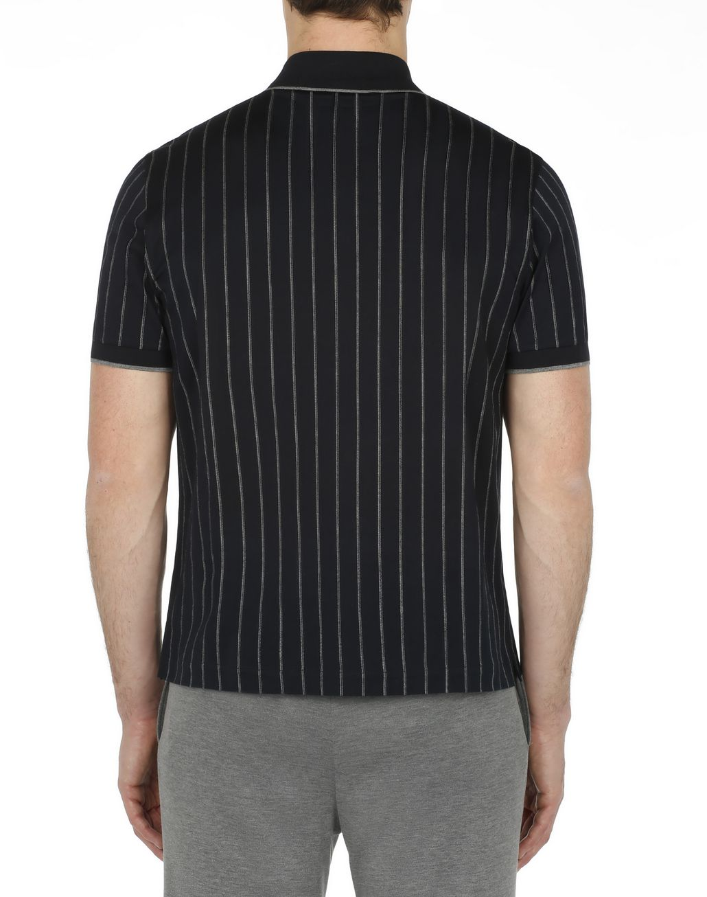 BRIONI Navy Blue Striped Polo Shirt T-Shirts & Polos [*** pickupInStoreShippingNotGuaranteed_info ***] d