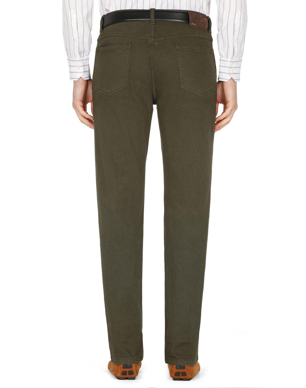 BRIONI Green Denim Trousers Trousers Man d