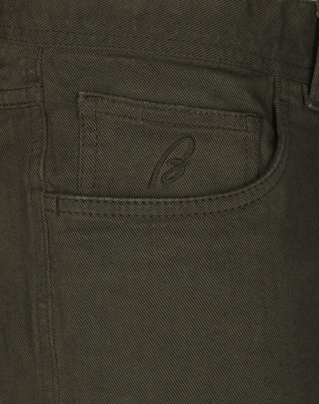 BRIONI Green Denim Trousers Trousers [*** pickupInStoreShippingNotGuaranteed_info ***] e