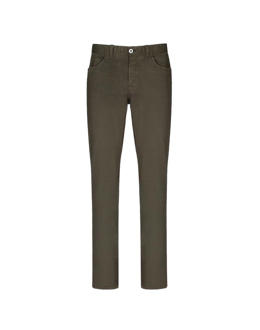 BRIONI Green Denim Trousers Trousers Man f