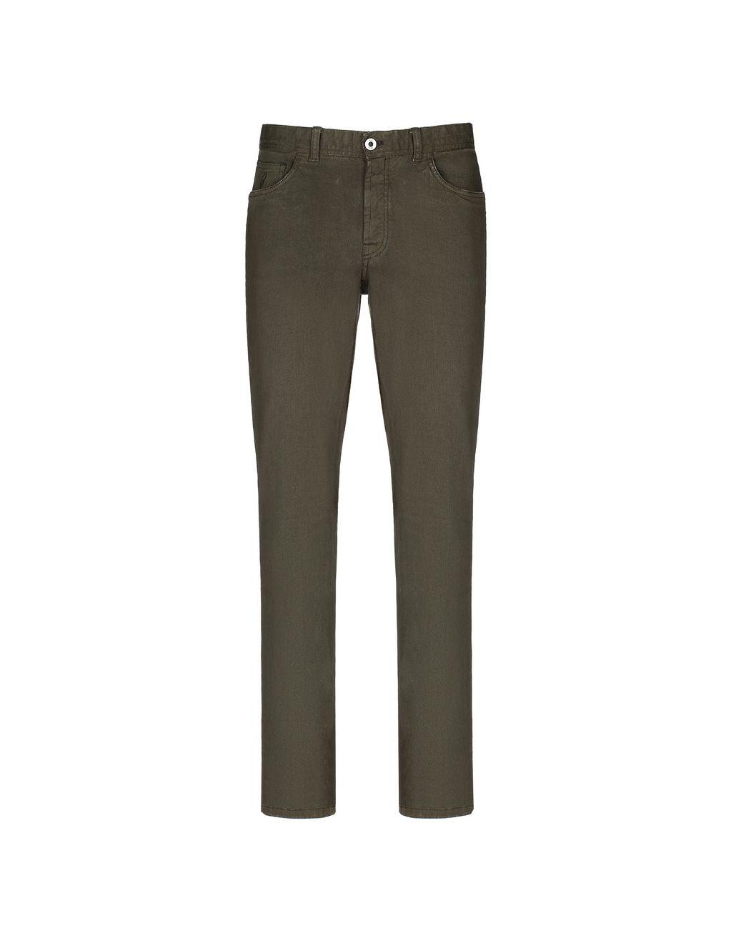 BRIONI Зелёные брюки из денима Брюки Для Мужчин f