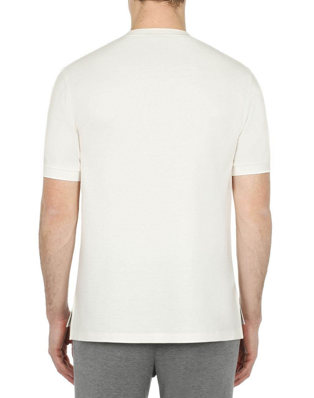 BRIONI White Honeycomb T-Shirt T-Shirts & Polos [*** pickupInStoreShippingNotGuaranteed_info ***] d