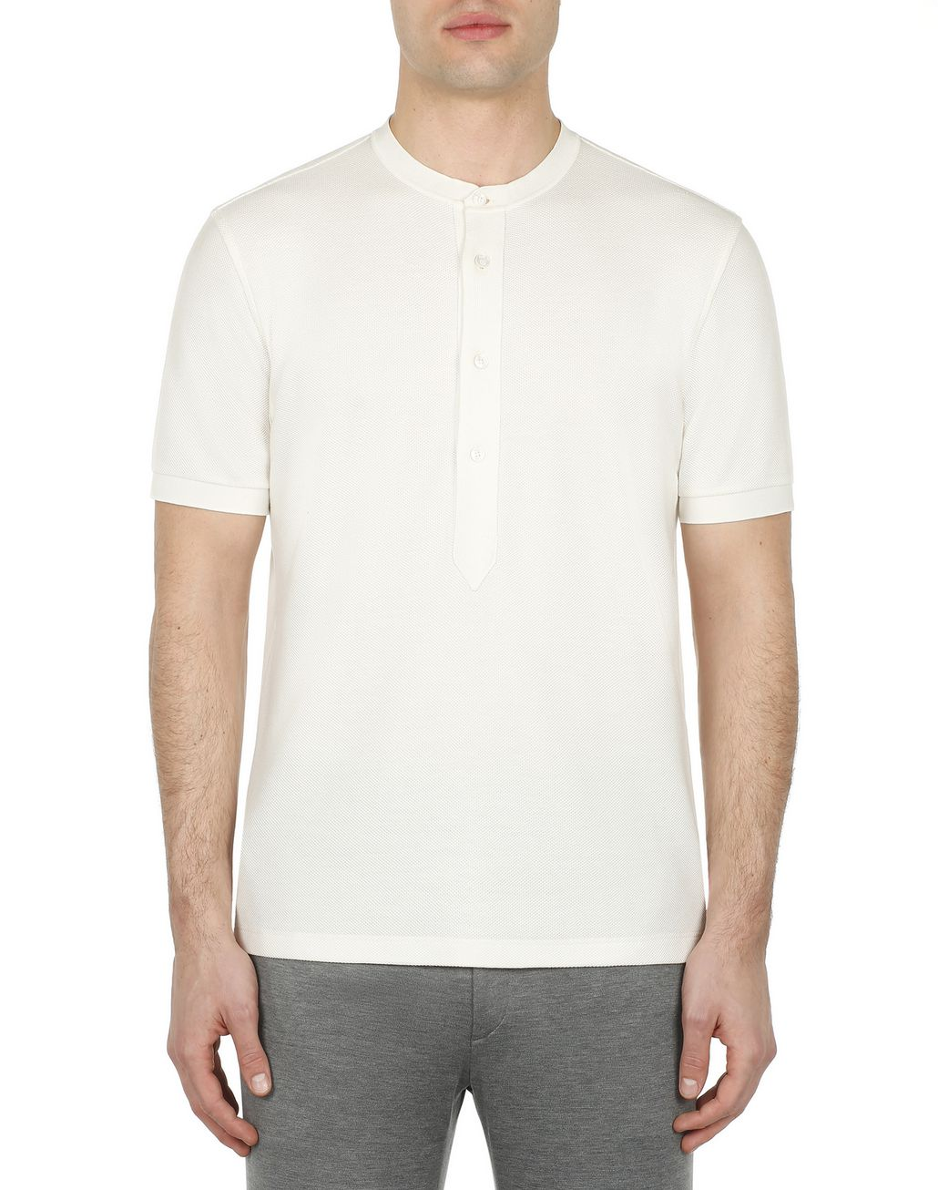 BRIONI White Honeycomb T-Shirt T-Shirts & Polos [*** pickupInStoreShippingNotGuaranteed_info ***] r