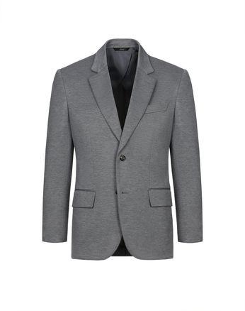 Серый пиджак из джерси
