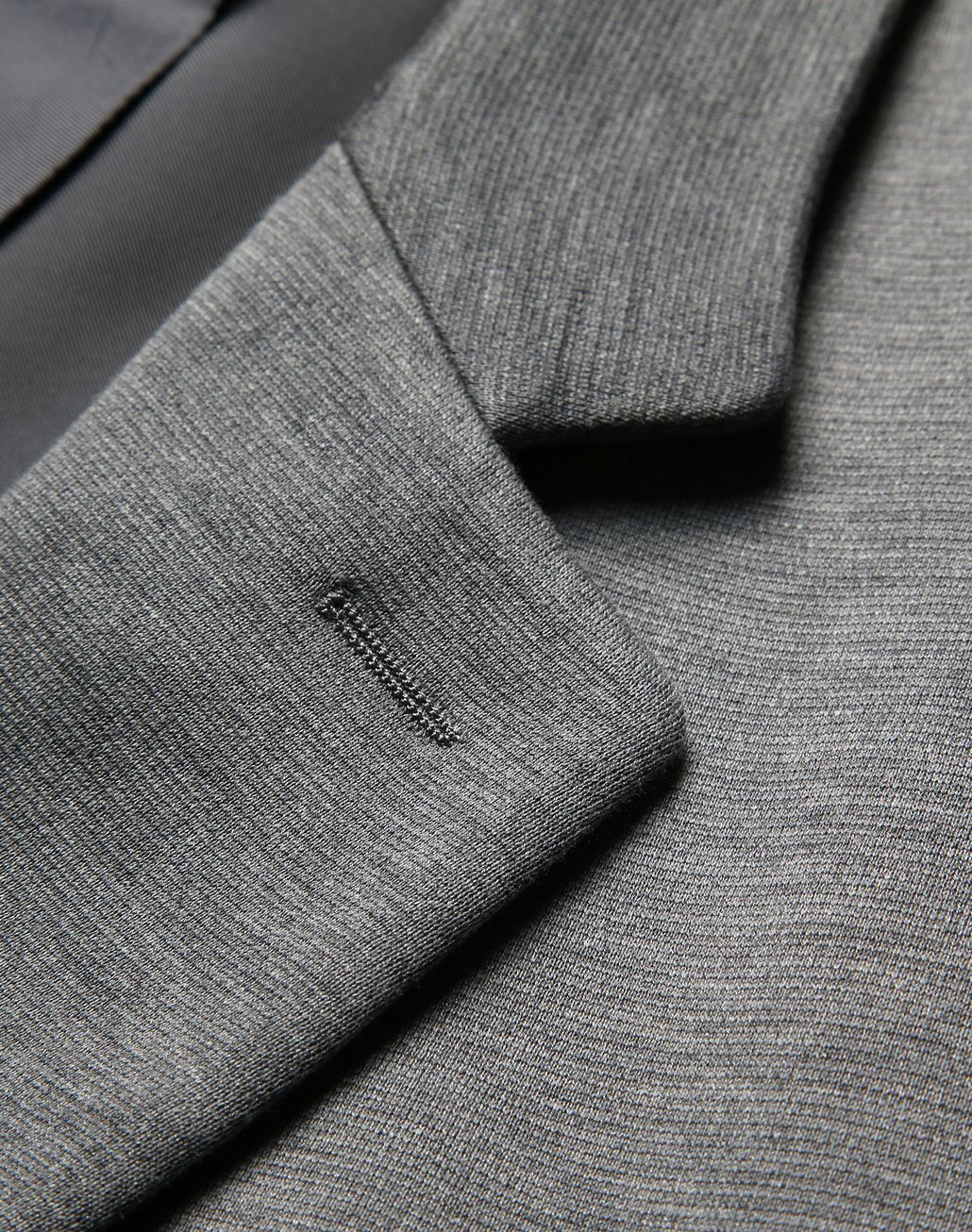 BRIONI Grey Jersey Jacket Jackets [*** pickupInStoreShippingNotGuaranteed_info ***] e