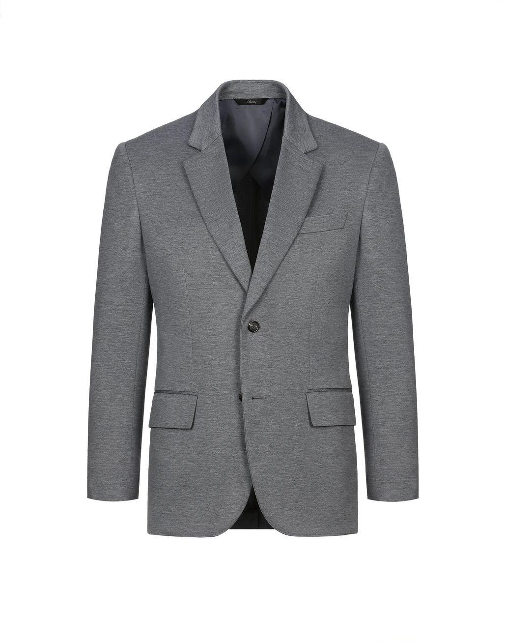 BRIONI Grey Jersey Jacket Jackets [*** pickupInStoreShippingNotGuaranteed_info ***] f