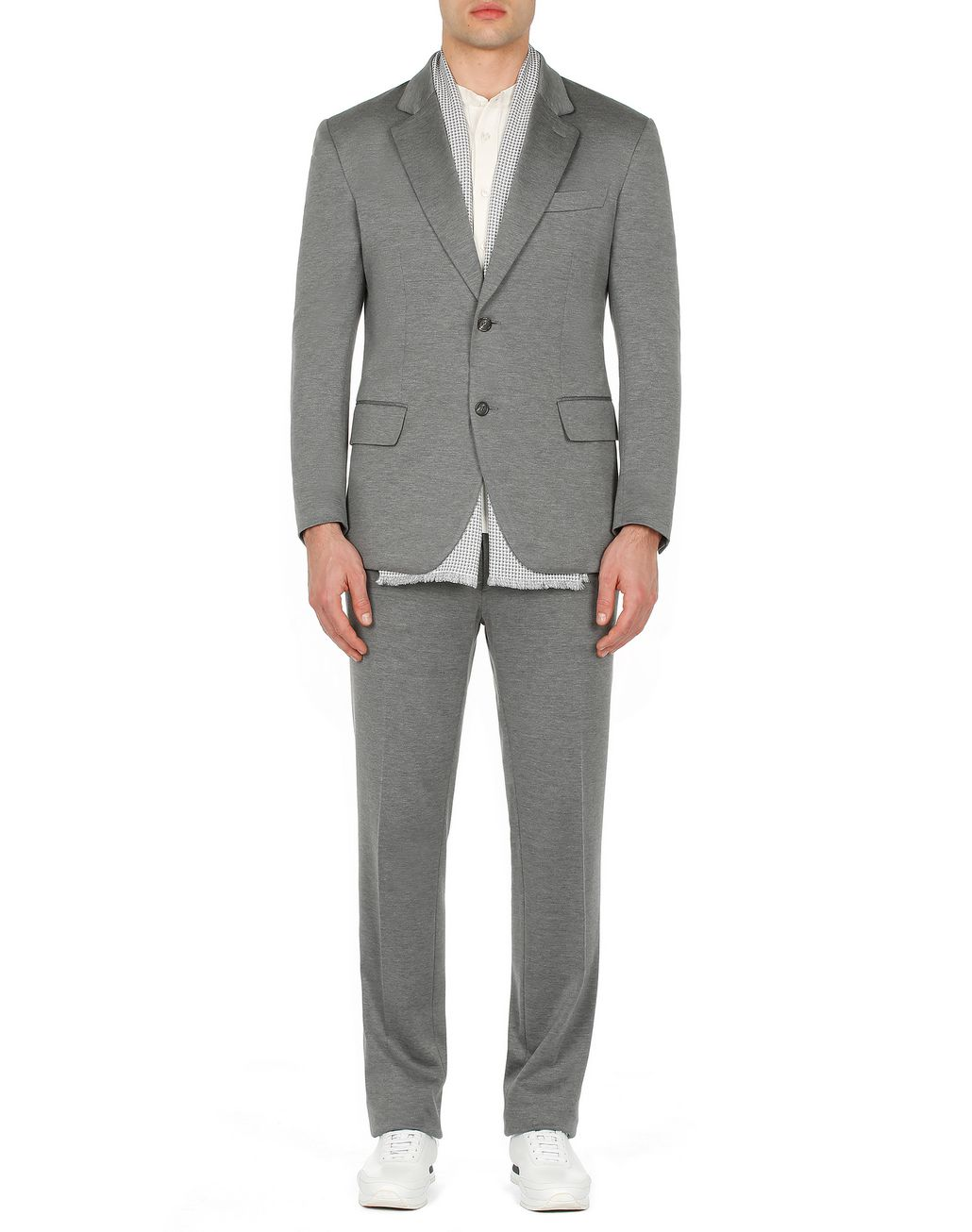 BRIONI Grey Jersey Jacket Jackets Man r