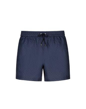海军蓝色徽标游泳短裤