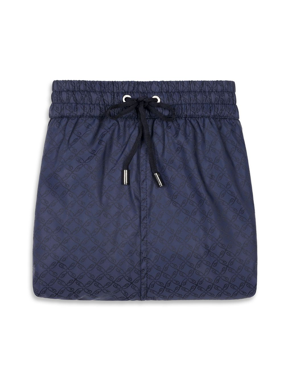 BRIONI Navy Blue Logo Short Swims Short Beachwear Man e