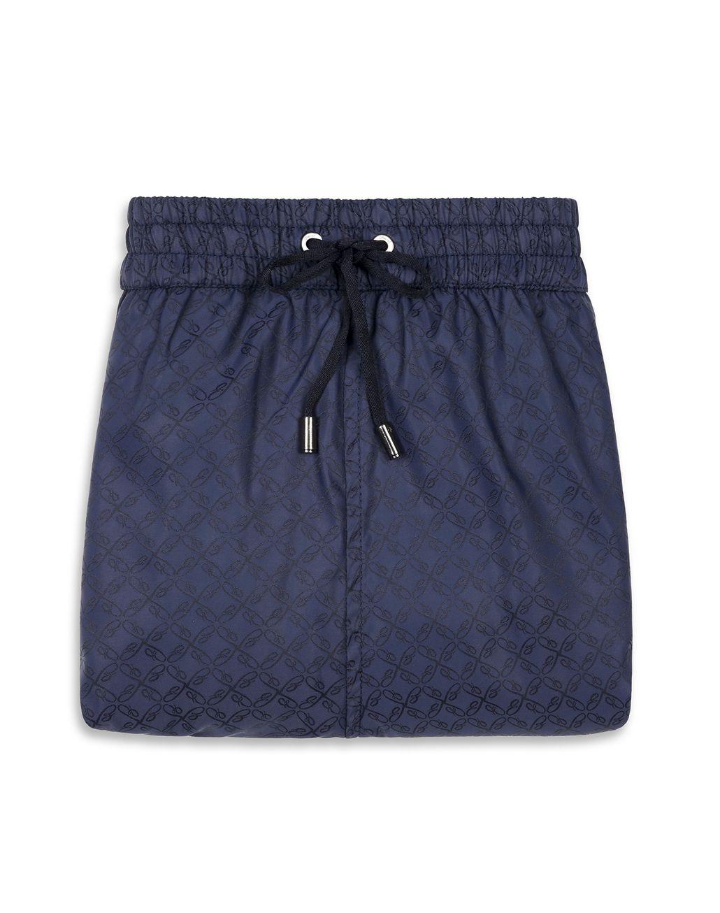 BRIONI Navy Blue Logo Short Swims Short Beachwear [*** pickupInStoreShippingNotGuaranteed_info ***] e