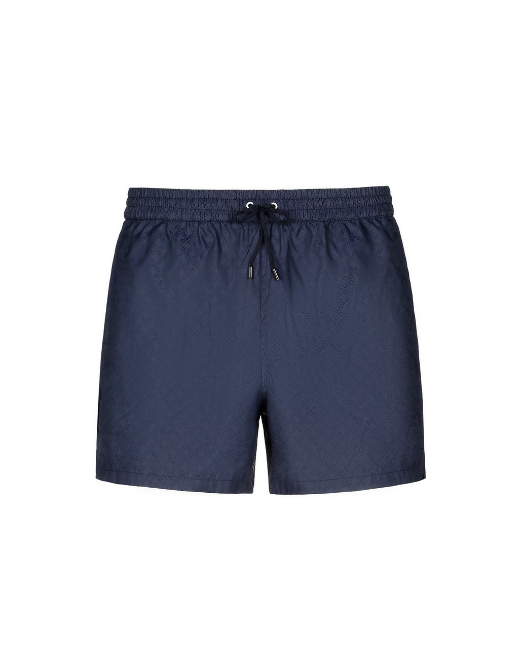 BRIONI Navy Blue Logo Short Swims Short Beachwear Man f