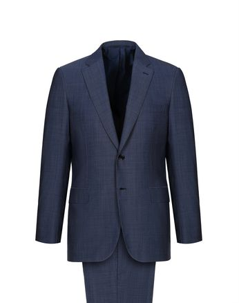 Navy Blue Micro Grisaille Brunico Suit