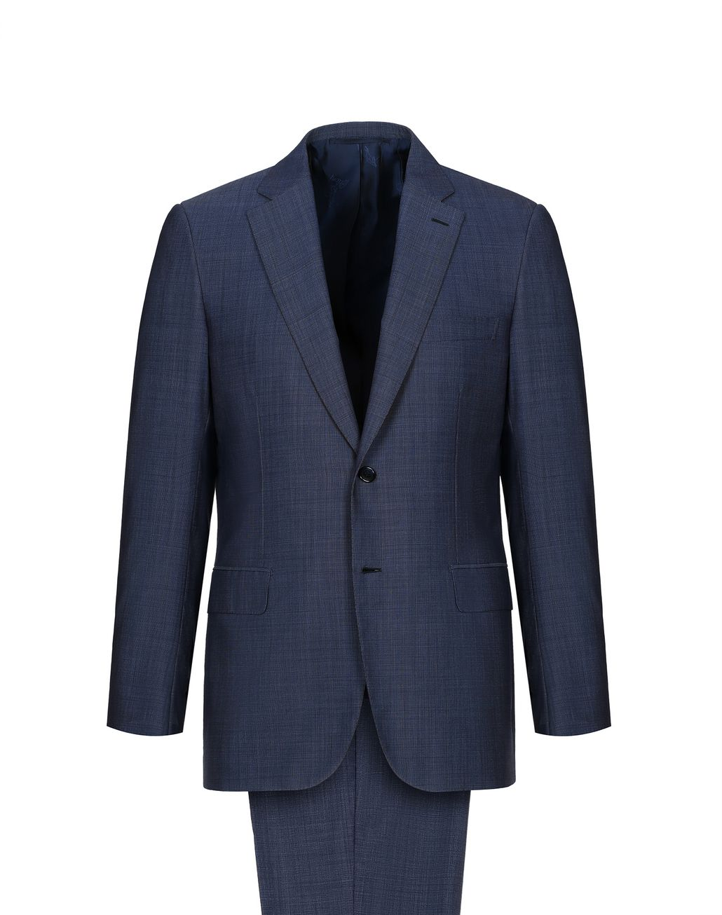 BRIONI Navy Blue Micro Grisaille Brunico Suit Suits & Jackets Man f