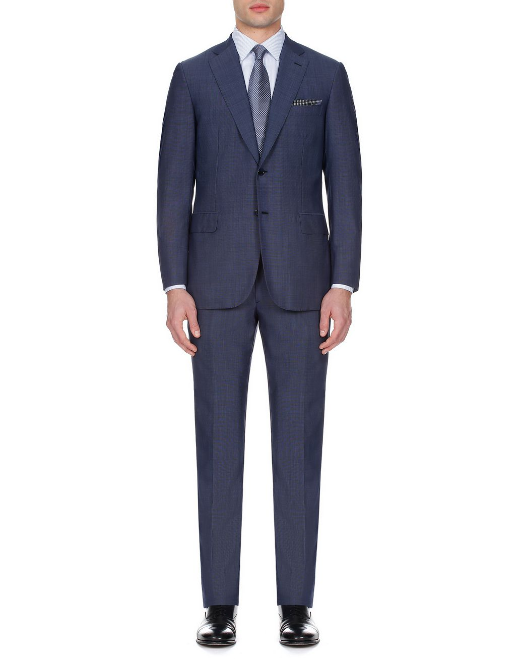 BRIONI Costume Brunico bleu marine avec motif grisaille miniature Suits & Jackets [*** pickupInStoreShippingNotGuaranteed_info ***] r