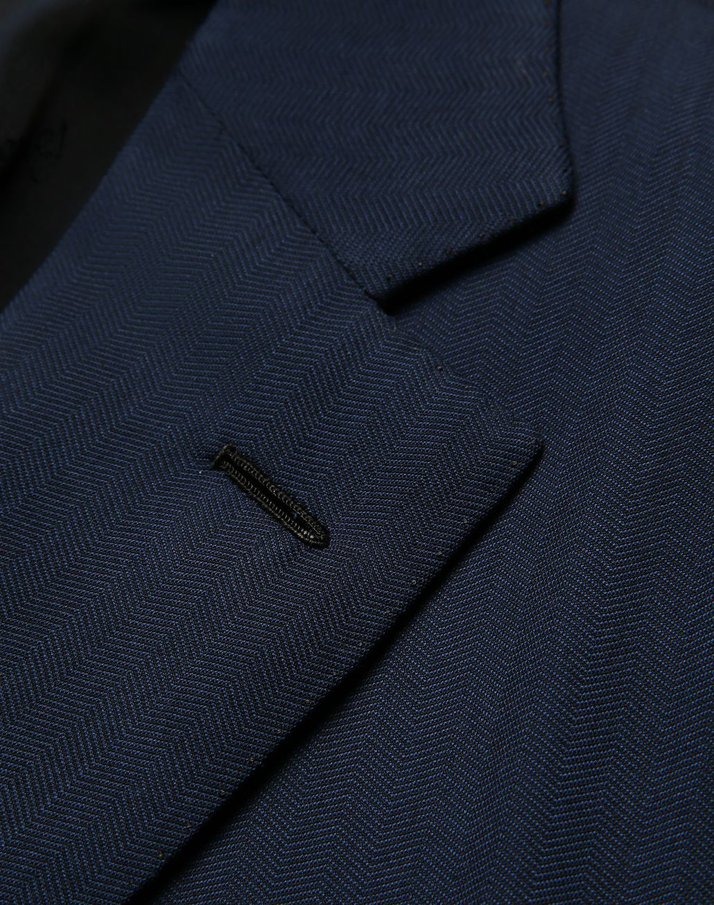BRIONI Navy Blue Herringbone Brunico Suit Suits & Jackets [*** pickupInStoreShippingNotGuaranteed_info ***] e