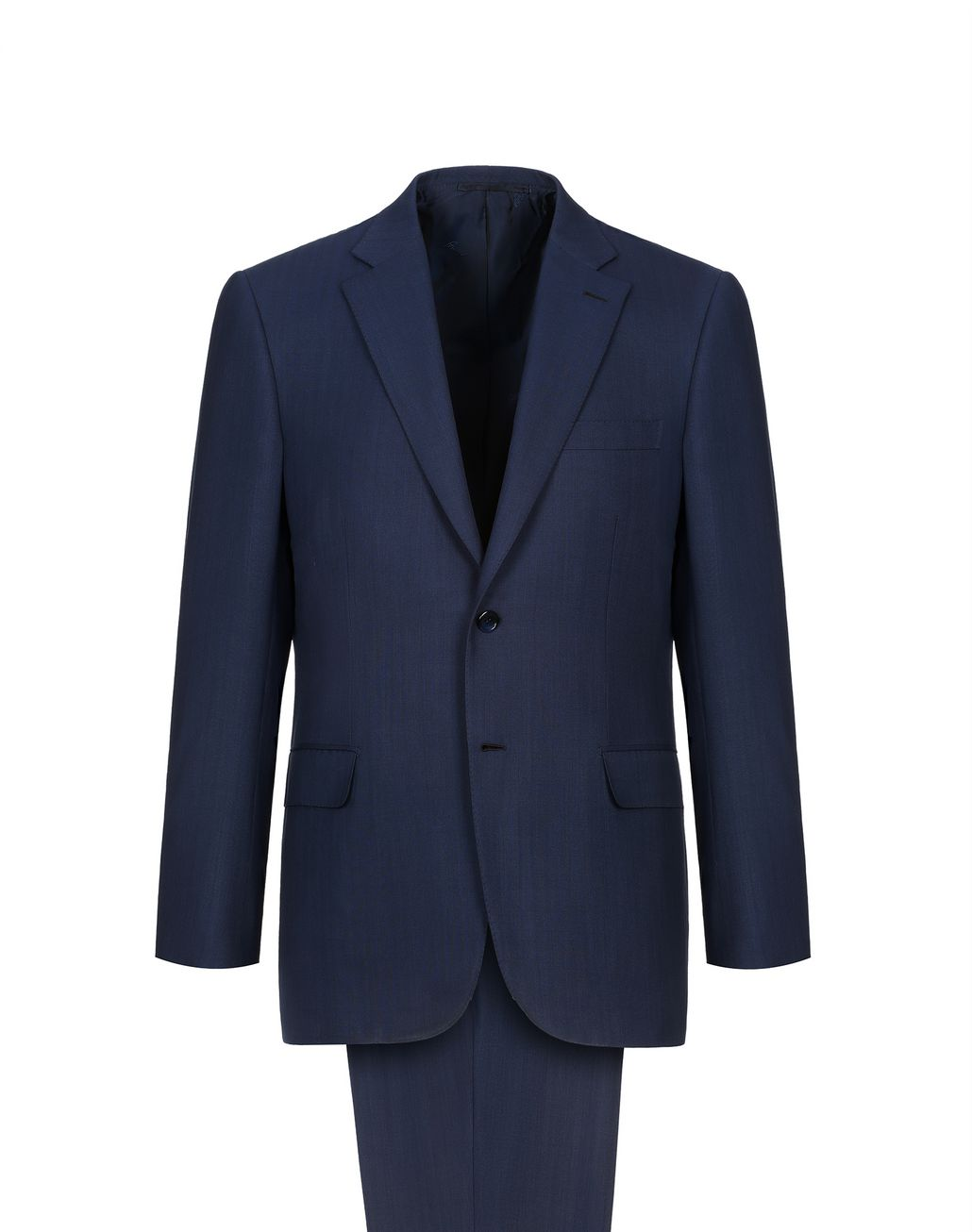 BRIONI Navy Blue Herringbone Brunico Suit Suits & Jackets Man f