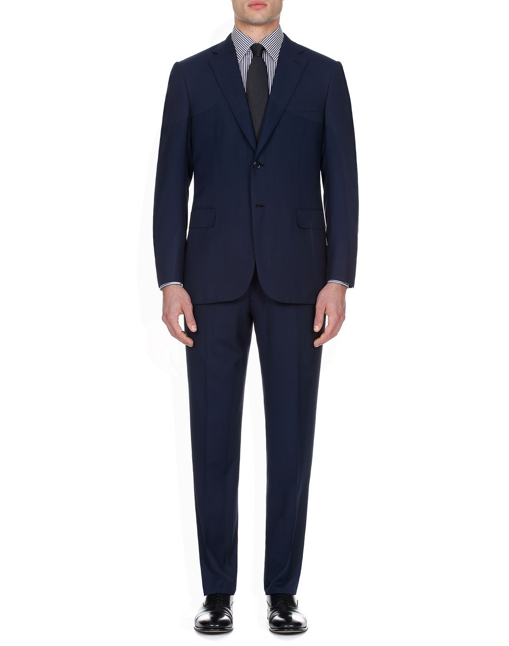 BRIONI Navy Blue Herringbone Brunico Suit Suits & Jackets [*** pickupInStoreShippingNotGuaranteed_info ***] r